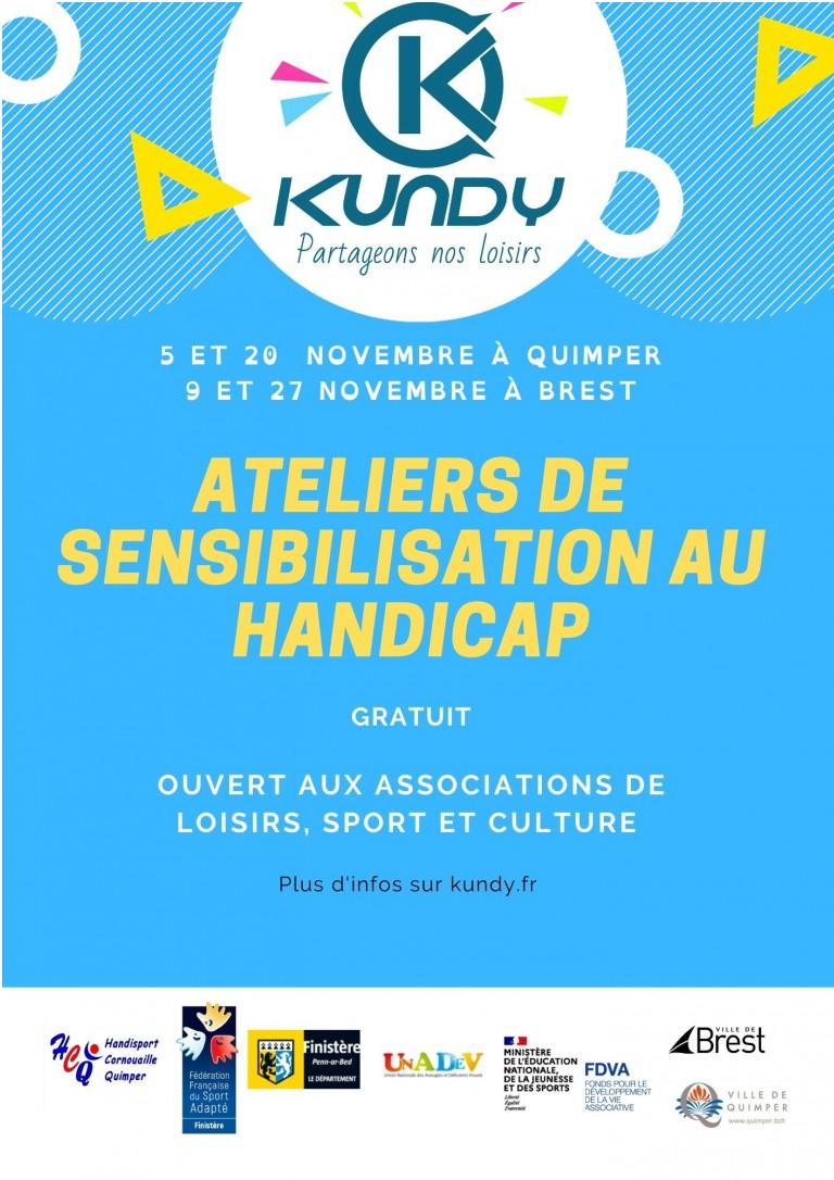 Inscriptions ouvertes -Ateliers de sensibilisation au handicap - Novembre 2021