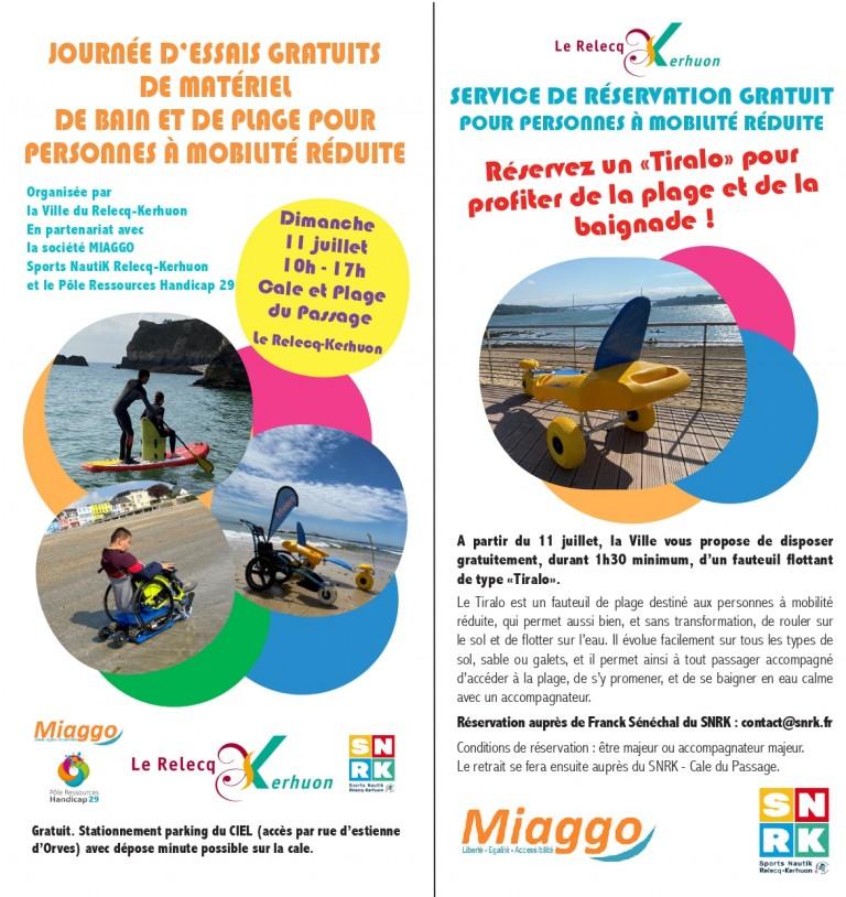 La mer pour tous au Relecq-Kerhuon ! Venez tester l'accès à la plage et à la baignade dès le 11 juillet
